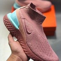 Nike Rise React Flyknit Men's and women's cheap nike shoes