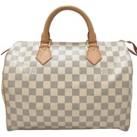 LOUIS VUITTON Speedy 30 Handbag Bag Damier Azur N41370