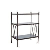 Walnut Brown Three Tier Stand Safavieh Furniture Free Standing Shelves & Bookcases Home Of