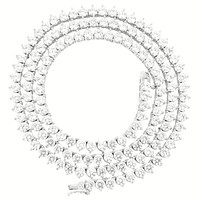 "3 Prong Sterling Silver 3mm 18"" Tennis Chain"