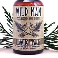 Beard Wash Shampoo Soap Natural Mens Beard Soap Wild Man 2oz