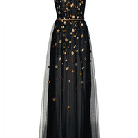 High Neck Embellished Gown | Moda Operandi