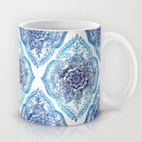 Indian Ink - in Blues Mug by Micklyn