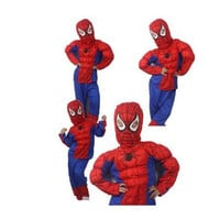 Thick Halloween Spider Man Spider-Man Suit Clothes Apparel Spiderman Costume muscle Children Kids