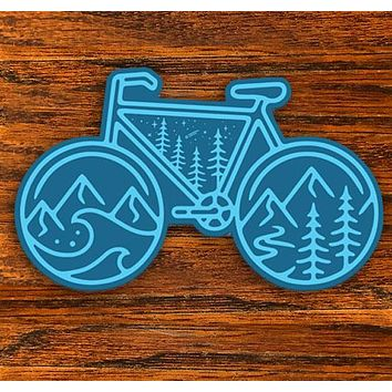 Cycle Nature - All weather vinyl sticker