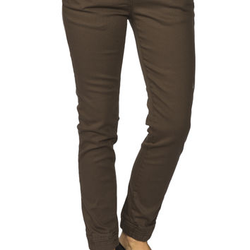 Girls  Low Rise Stretch Twill Jogger