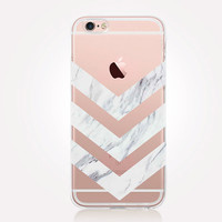 Transparent White Marble iPhone Case - Transparent Case - Clear Case - Transparent iPhone 6 - Transparent iPhone 5 - Transparent iPhone 4