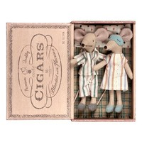Maileg Nighttime Mom & Dad Toy Mice in a Cigar Box   Nordstrom