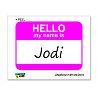 Jodi Hello My Name Is Sticker