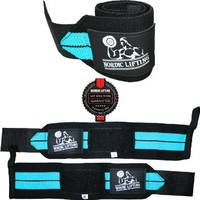 Wrist Wraps (1 Pair/2 Wraps) for Weightlifting/Crossfit/Powerlifting/Bodybuilding - For Women & Men - Premium Quality Equipment & Accessories for the Absolutely Best Hand Strength & Support Possible - Guard & Brace Your Wrists With this Gear to Avoid Injur