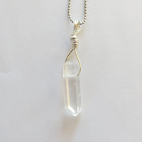 Rough Crystal Necklace by The Wild Willows