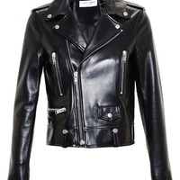 SAINT LAURENT | Leather Biker Jacket | brownsfashion.com | The Finest Edit of Luxury Fashion | Clothes, Shoes, Bags and Accessories for Men & Women