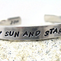 Custom Bracelet - Personalized on the Outside AND Inside - Hand Stamped Aluminum Cuff - customizable.