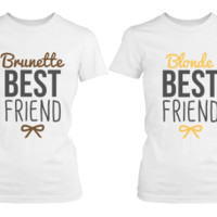 Brunette Blonde Matching Shirts for Best Friends