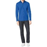 Tailored-Fit Stretch-Cotton Shirt | Michael Kors