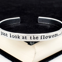 Just Look at the Flowers - The Walking Dead - Zombie - Adjustable Aluminum Bracelet Style B