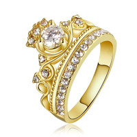 Gold Plated The Queen's Crown Ring