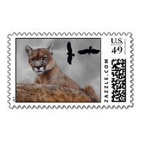 Mountain lions watch out postage