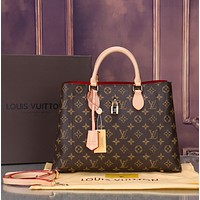 Louis Vuitton LV Women Shopping Bag Leather Crossbody Satchel Shoulder Bag Handbag