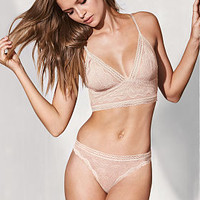 Lace & Mesh Long Line Bralette - Very Sexy - Victoria's Secret