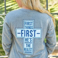 Jadelynn Brooke: First Thing First, He's the Realest L/S {Dark H.Grey}