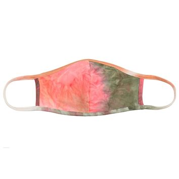 Coral/Moss Tie Dye Face Mask - Covid 19