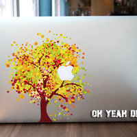 Harvest Tree macbook decal/Decal for Macbook Pro, Air or Ipad/Stickers/Macbook Decals/Apple Decal for Macbook Pro / Macbook Air/laptop 1326