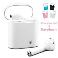 i7 tws + Charging box Mini wireless bluetooth earphone with mic in Ear Buds bloototh headset for iPhone Android In-Ear Headphone