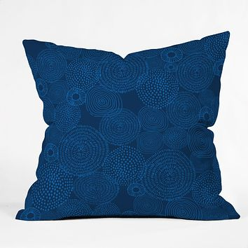 Camilla Foss Circles In Blue I Outdoor Throw Pillow