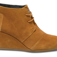 Chestnut Suede Women's Desert Wedges US