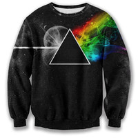 New fashion 2015 fall men/women's pullover hoodies 3D graphic print Pink Floyd crewneck sweatshirt long sleeve sweat shirts