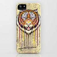 The Tiger's Fury iPhone & iPod Case by Hanna Lemoine