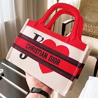 Dior New fashion more letter love heart print shoulder bag handbag