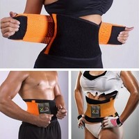 Women's Men's Sport Waist Cincher Girdle Belt Body Shaper Tummy Trainer Belly Training Corset [8069651655]