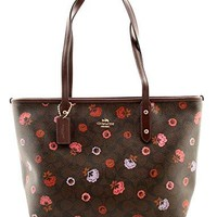 COACH City Zip Tote With Primrose Floral Print Handbag