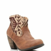 printed cowgirl booties $29.10 in BLACK COGNAC TAUPE - New Shoes | GoJane.com