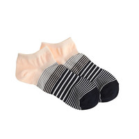 J.Crew Womens Sectioned Stripe Ankle Socsk