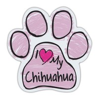 Pink I <3 my chihuahua magnet