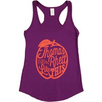 Thomas Rhett Women's  It Goes Like This Womens Tank Plum Rockabilia
