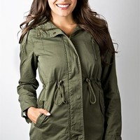 Military Jacket with Hood