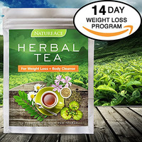 Nature Ace Weight Loss Tea - Best For Teatox, Detox, Body Cleanse, Bloating Reduction, Metabolism and Energy Boost - 100% Natural Organic Chinese Herbs - For Men & Women - Fast Action Premium Tea Bags