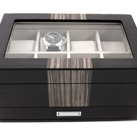 Lacquered Watch/Jewelry Box, Brown, Jewelry Boxes & Chests