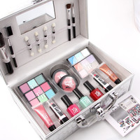 MISS ROSES colour makeup suits Universal cosmetic bag professional makeup artist Professional makeup box with brush mirror