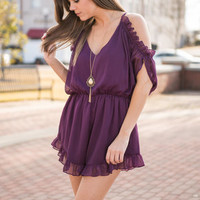Mad For You Romper, Plum