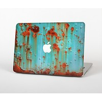 """The Teal Painted Rustic Metal Skin Set for the Apple MacBook Pro 15"""""""