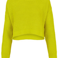Knitted Textured Stitch Crop - Knitwear - Clothing - Topshop USA