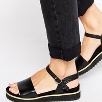 ASOS FAMOUSLY Two Part Sandals