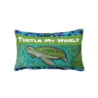 Green Sea Turtle Pillow from Zazzle.com