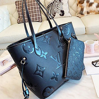LV Louis Vuitton Women's Shopping Bag Handbag Shoulder Bag Two-Piece Set