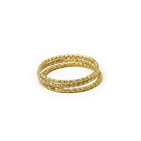 karma sparkle rings, set of 3, gold dipped- size 8 - Dogeared
